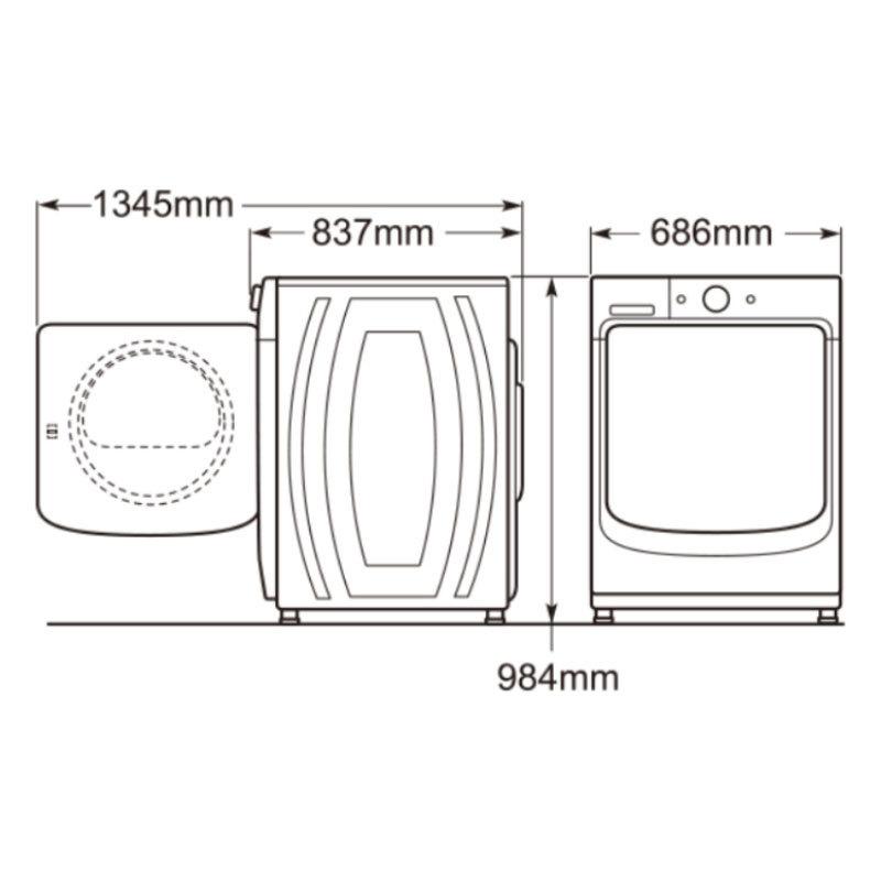 MAYTAG MHW5500FW 滾筒洗衣機 15kg