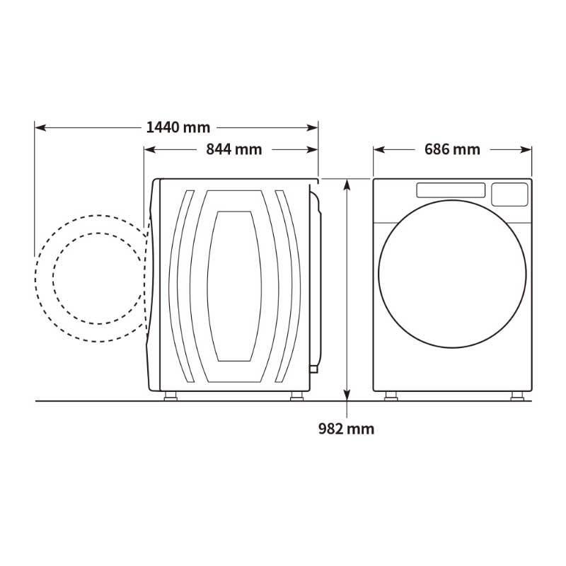 Whirlpool 8TWFW8620HW 滾筒式洗衣機 17kg