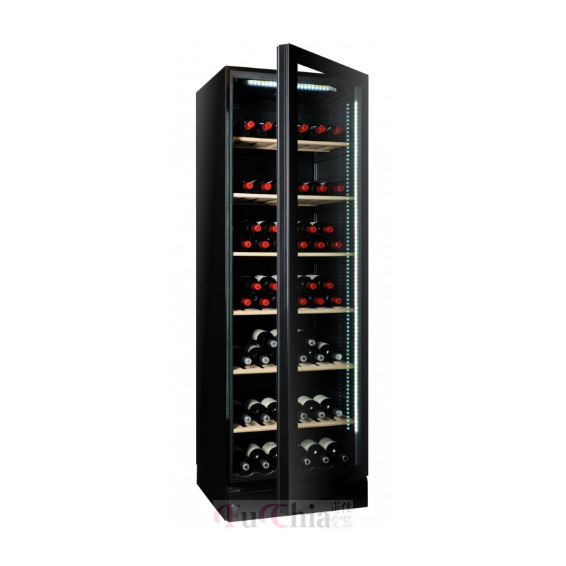 VINTEC V190SG2EBK 獨立式 雙溫 玻璃門 酒櫃 150瓶