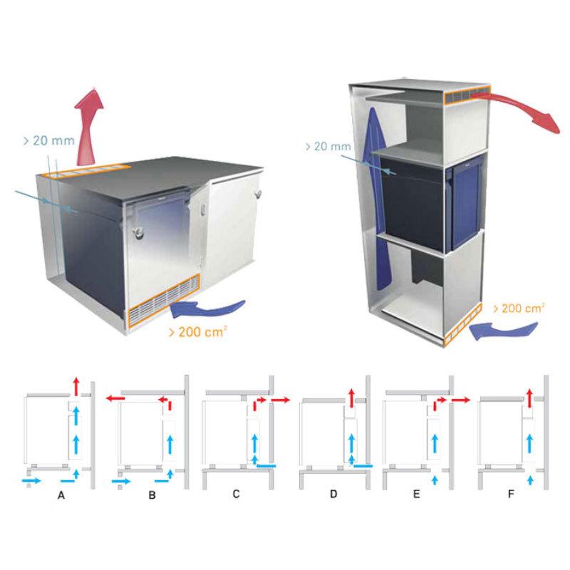 Dometic RH460LD MINIBAR 客房用無聲冷藏冰箱 60L
