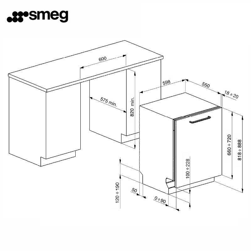 smeg ST65221K 全嵌入式洗碗機 220V