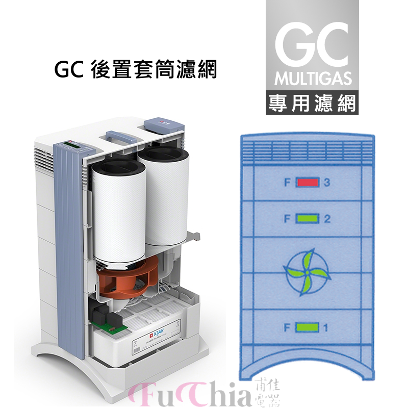 IQAir GC Post-Filter Sleeve Set 後置套筒濾網 GC MultiGas 專用