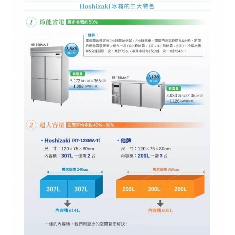 HOSHIZAKI FT-156MA-T 工作台冰箱 五尺 冷凍