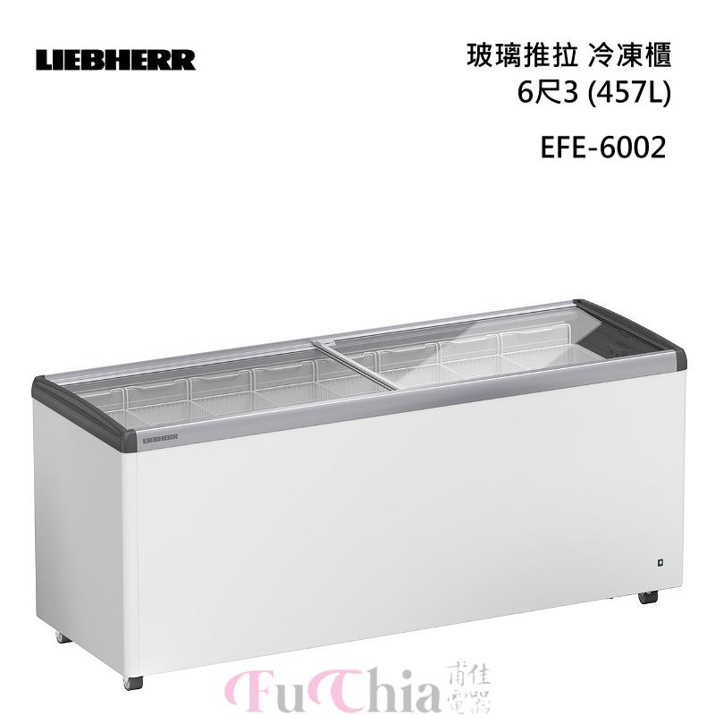 LIEBHERR EFE-6002 玻璃推拉 6尺3(457L) 冷凍櫃