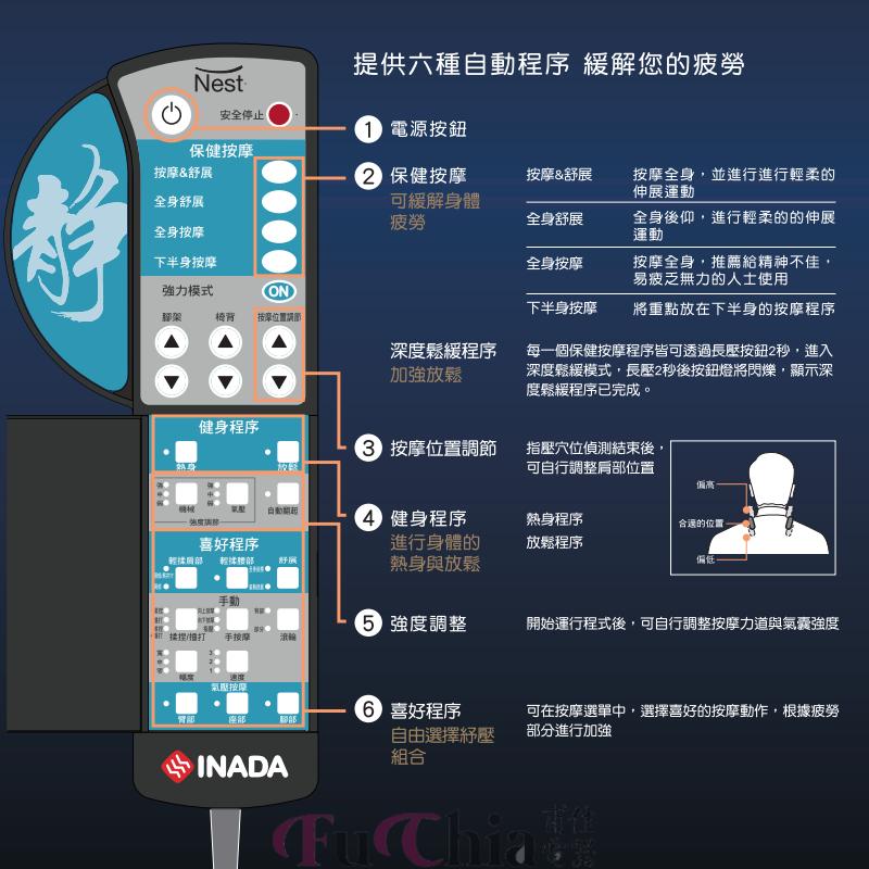 INADA HCP-S999E 按摩椅 巢舒壓指技