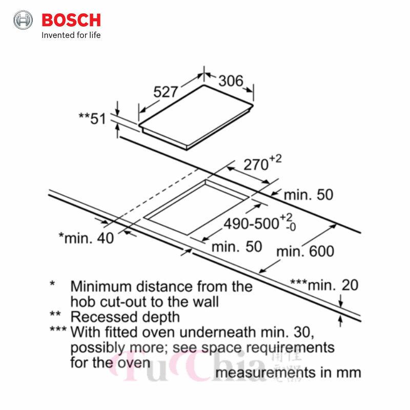 BOSCH PIB375FB1E 嵌入式雙口感應爐 30cm