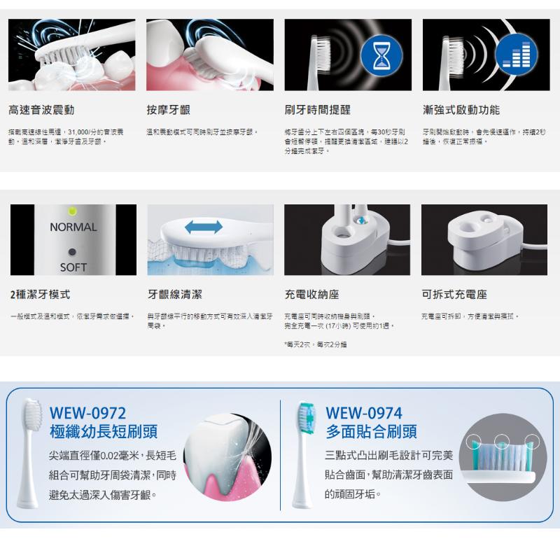 Panasonic EW-DM81 音波電動牙刷 初階牙周護理
