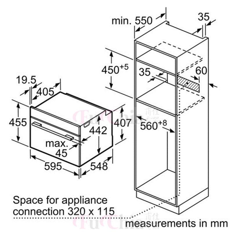 BOSCH CDG634BS1 45公分 嵌入式 蒸爐 38L (220V)