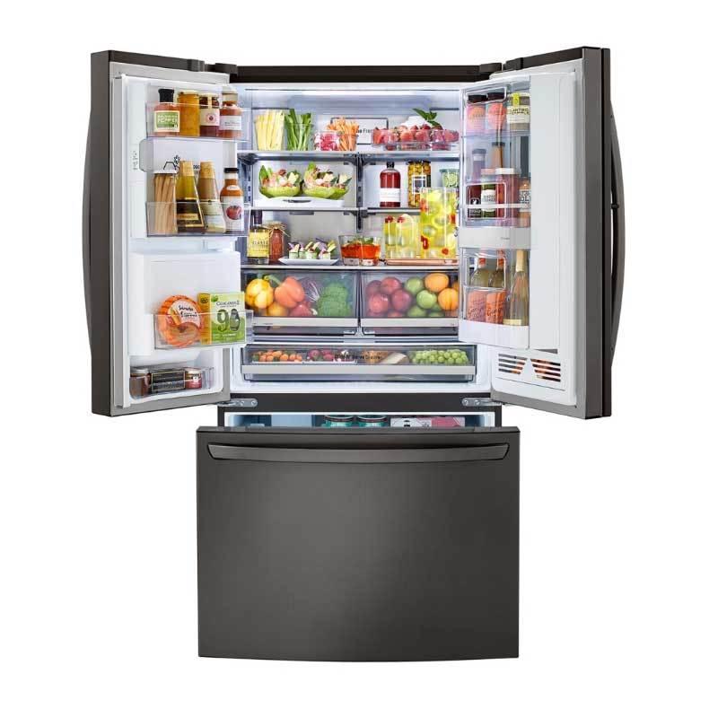 LG GR-QBFL87BS InstaView WiFi 敲敲看 門中門冰箱 821L 法式三門