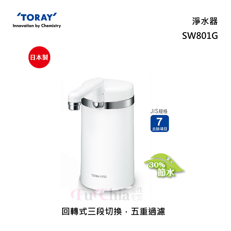 TORAY SW801G 廚上型 淨水器