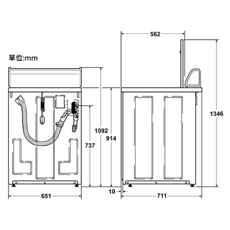 Huebsch ZWN432 直立式洗衣機 機械旋鈕 12kg