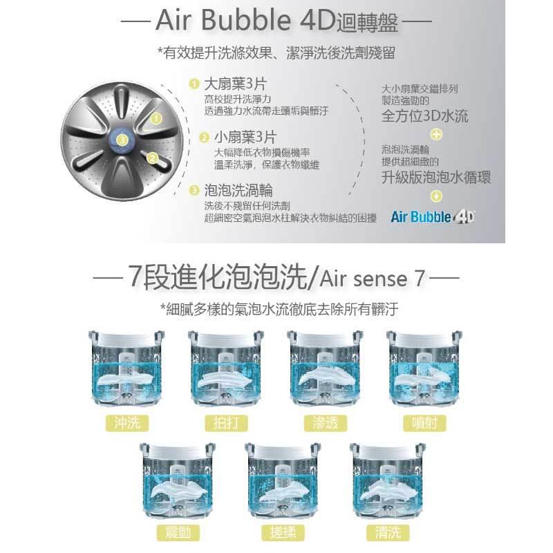 WINIA DWF-G300GDS 4D超音波直立 變頻洗衣機 15kg