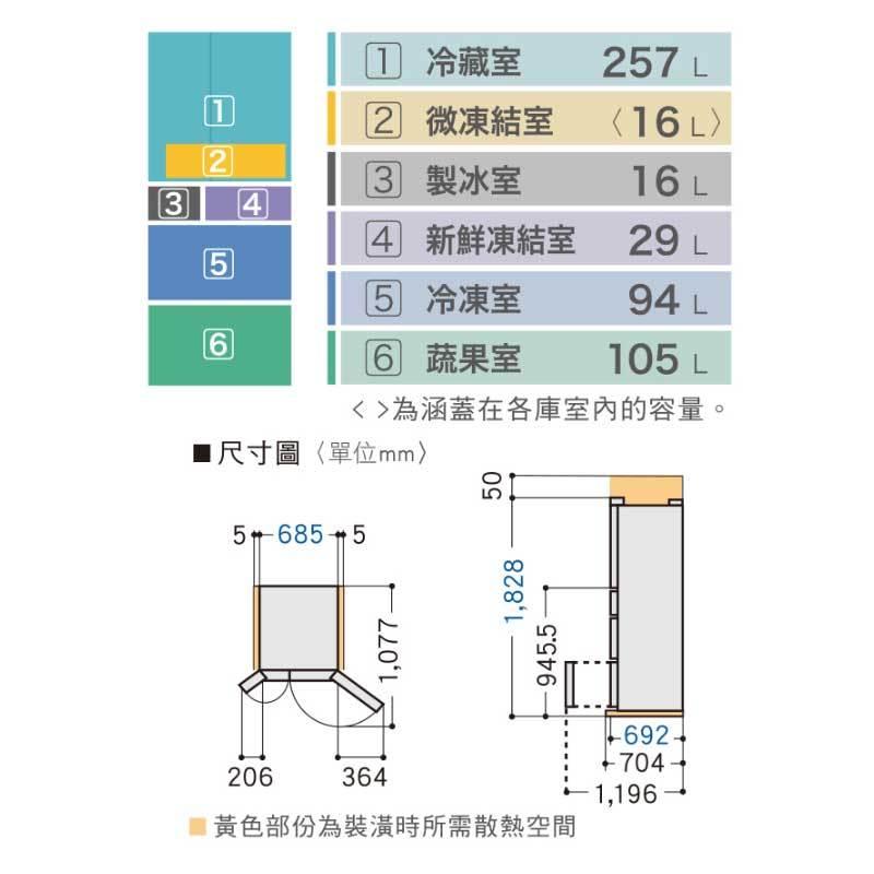 Panasonic NR-F507VT 六門冰箱(鋼板) 501L