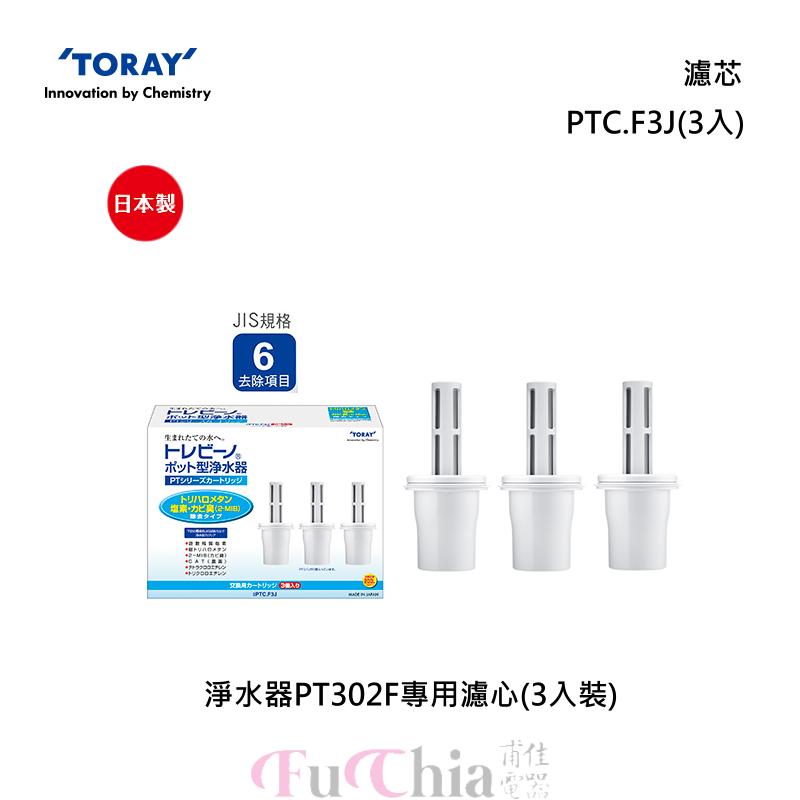 TORAY PTC.F3J 淨水壺PT302F專用 濾芯(3入)