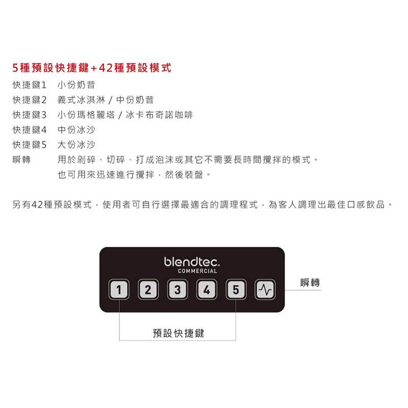 Blendtec CONNOISSEUR 825 SpaceSaver 商用調理機 鑑賞家系列