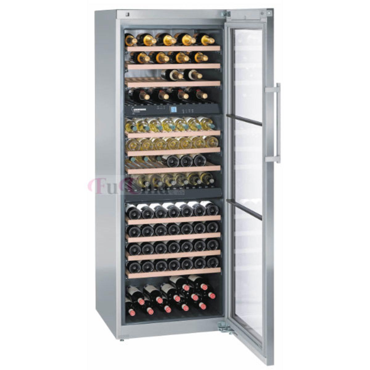 LIEBHERR WS17800 獨立式 不銹鋼 酒櫃 三溫 170瓶