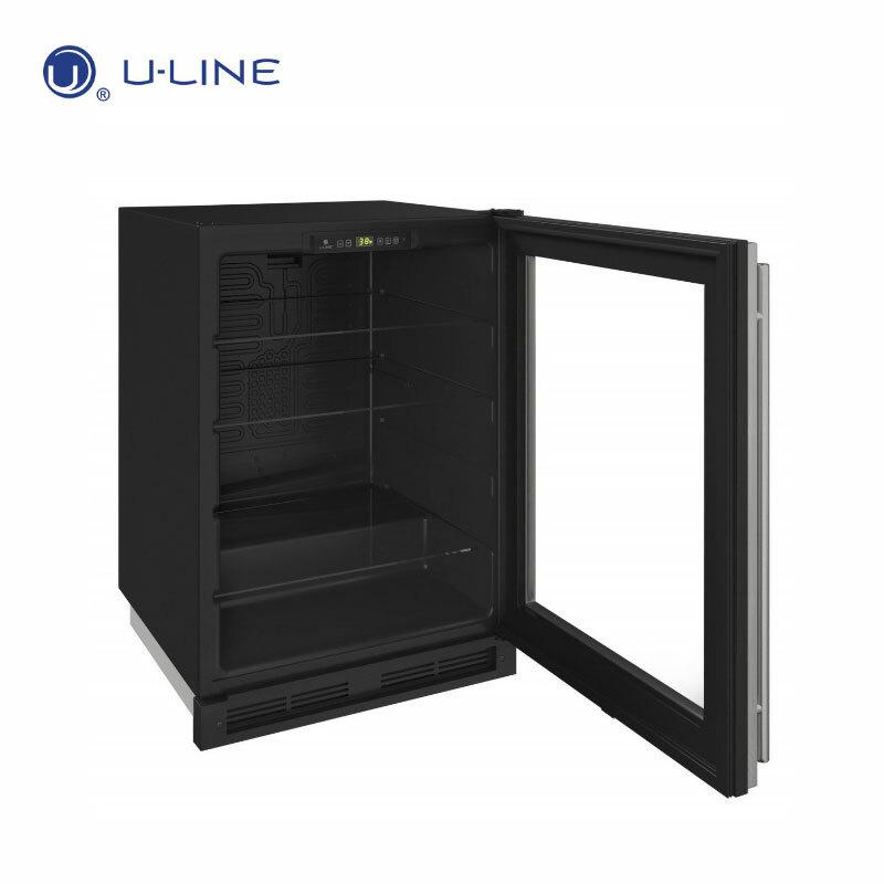 U-LINE U-1224RGLS 不鏽鋼門框 玻璃門冰箱 155L
