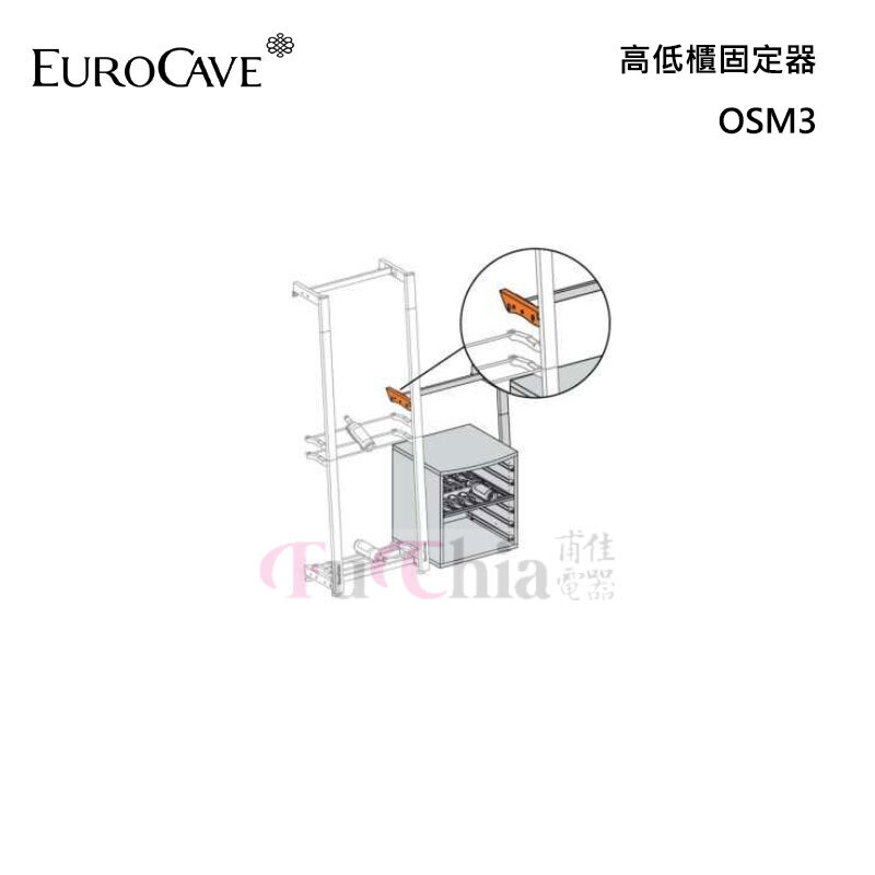 EuroCave OMS3 高低櫃固定器 Modulosteel 鋼製酒架