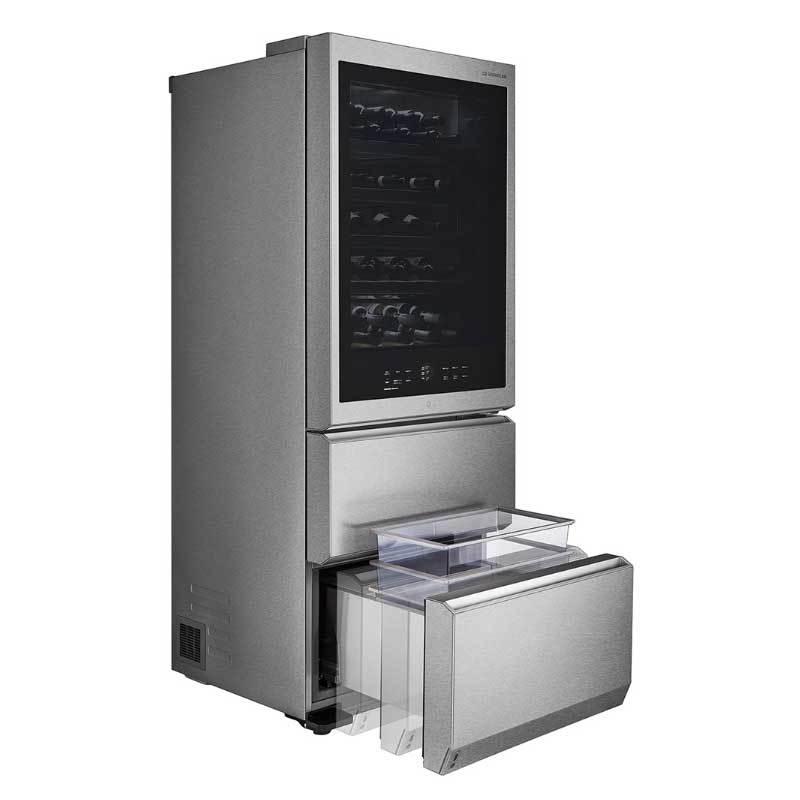 LG GR-W570ST WIFI敲敲看智慧溫控 酒櫃冰箱 65瓶 三溫
