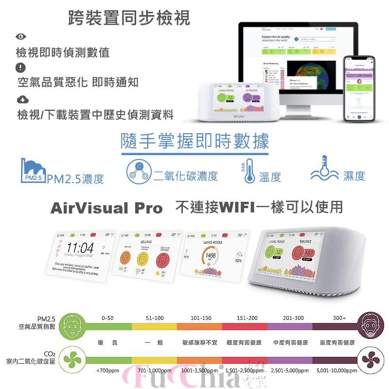 IQAir AirVisual Pro 空氣智能偵測器 空氣品質偵測
