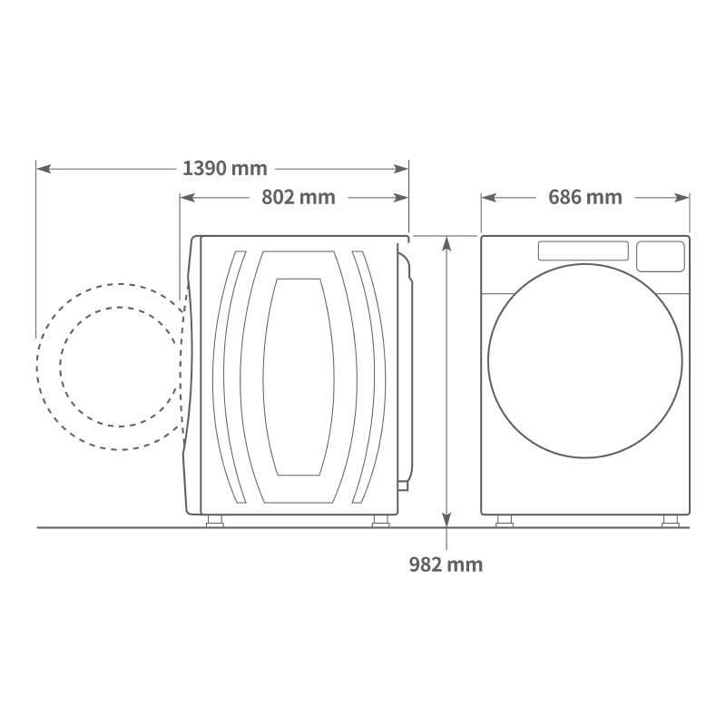 Whirlpool 8TWFW5620HW 滾筒式洗衣機 17kg