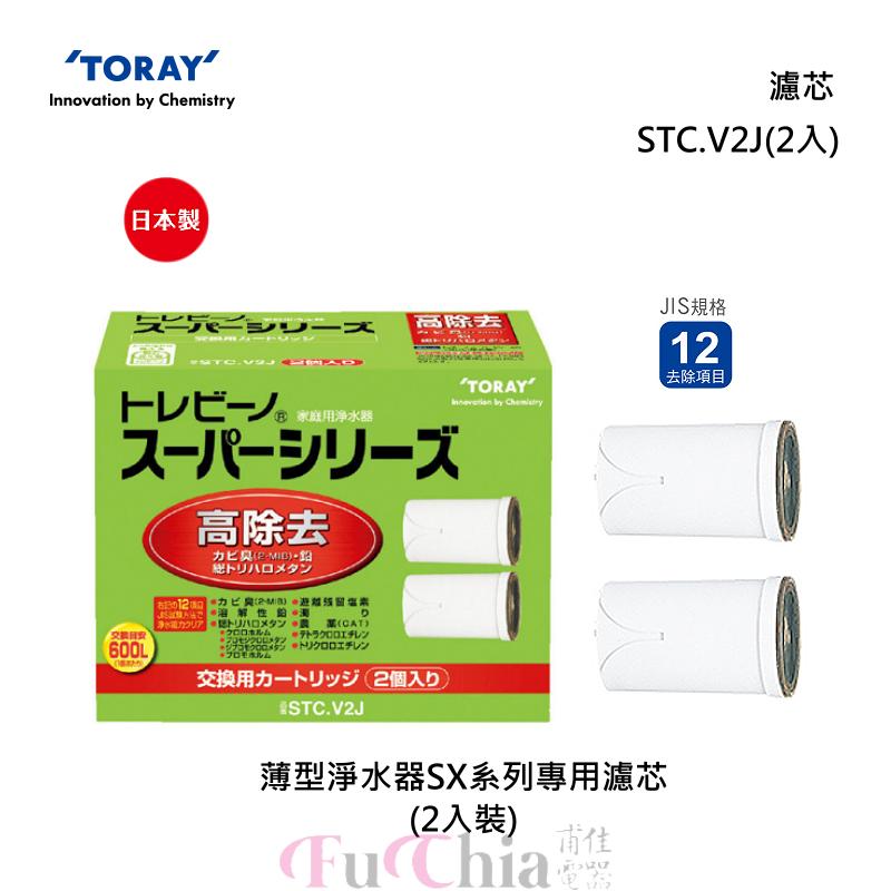 TORAY STC.V2J SX系列淨水器專用 濾芯(2入)