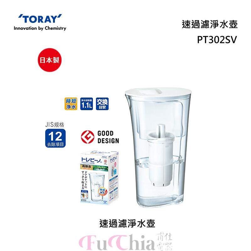 TORAY PT302SV 速過濾 淨水壺